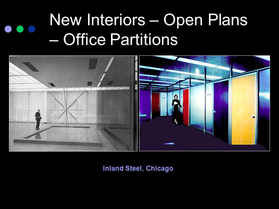 New Interiors – Open Plans – Office Partitions