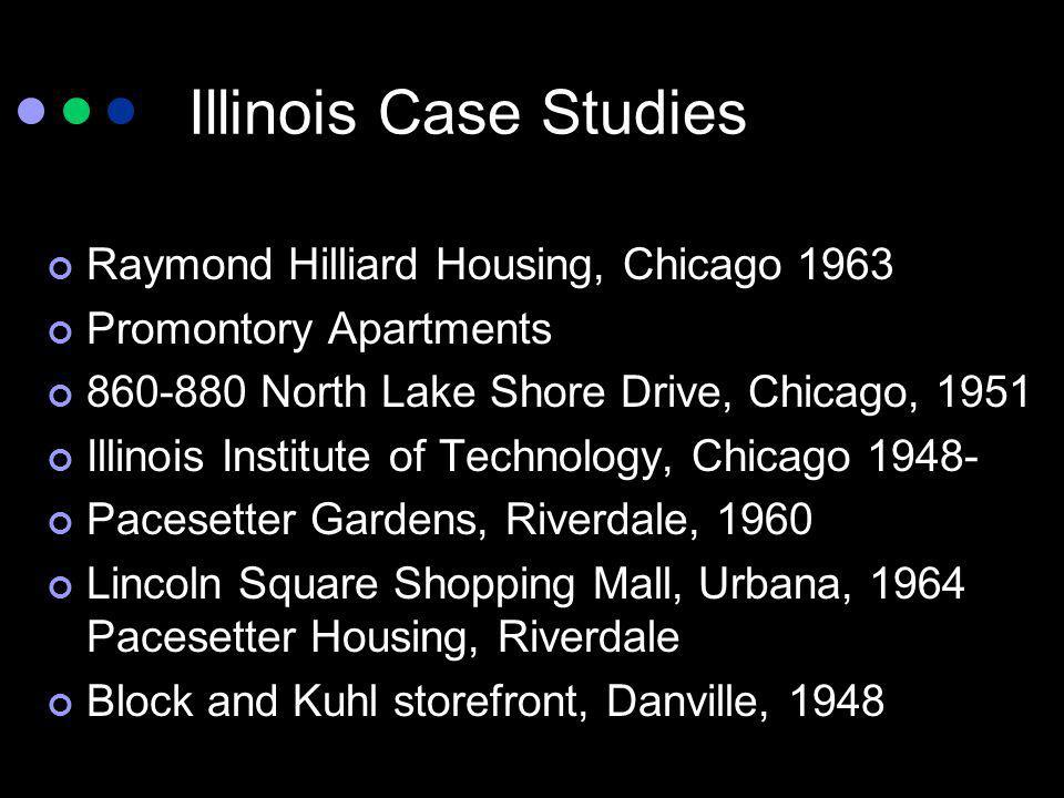 Illinois Case Studies Raymond Hilliard Housing, Chicago 1963