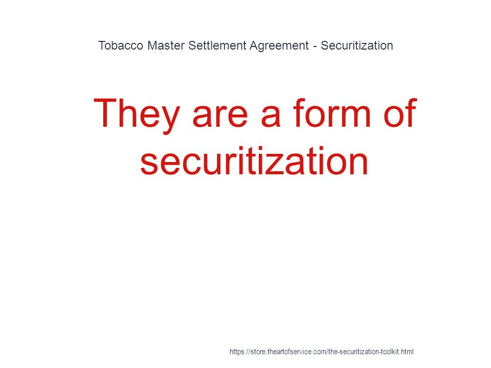 Securitization Https://Store.Theartofservice.Com/The