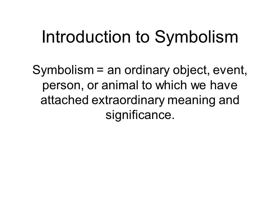 an introduction to the symbolism in a human society And modern urban society symbolism and modern urban society is the first social history of the symbolist  introduction: 1: 2: symbolist society: 25: 3:  human.