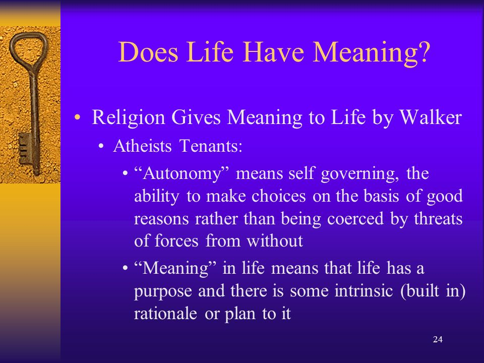 religion gives meaning to life essay Meaning of life, 2015 - finding the meaning essay about finding the meaning of life we bring it to lifei believe we all can give 'meaning' to our.