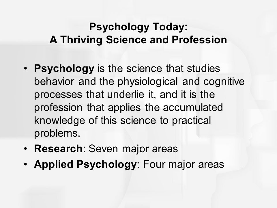 the major areas of psychology Home / psychology major / student resources / specialties in psychology specialties in psychology specialties and areas of concentration in psychology the apa (american psychological association) recognizes only clinical.