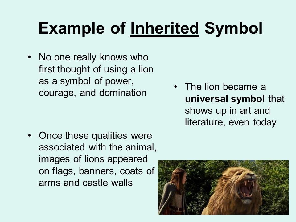symbolism layers of meaning ppt video online  example of inherited symbol