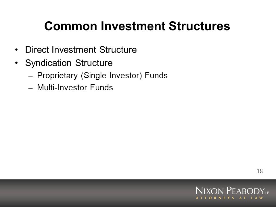 Common Investment Structures