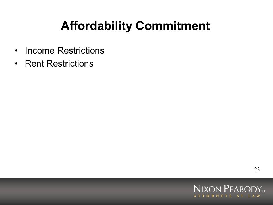 Affordability Commitment