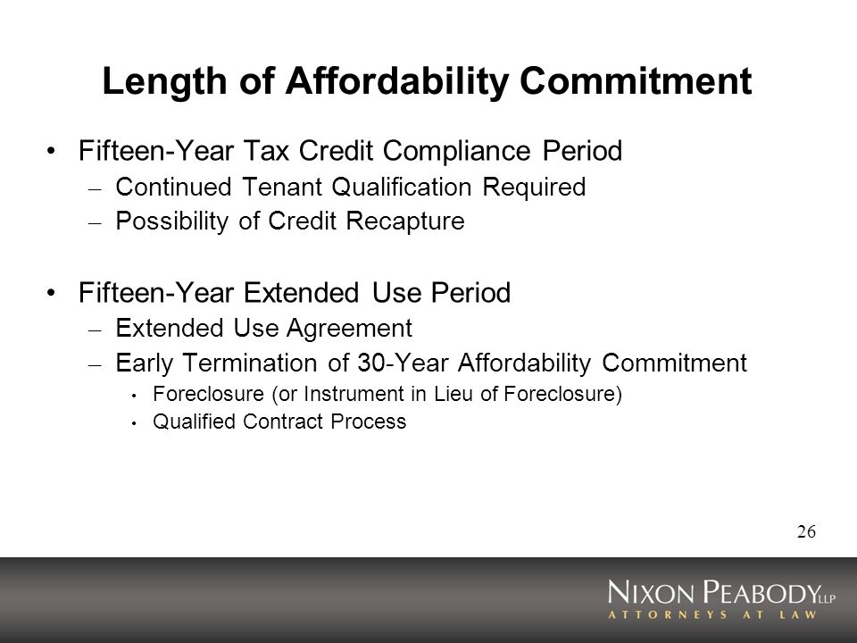 Length of Affordability Commitment