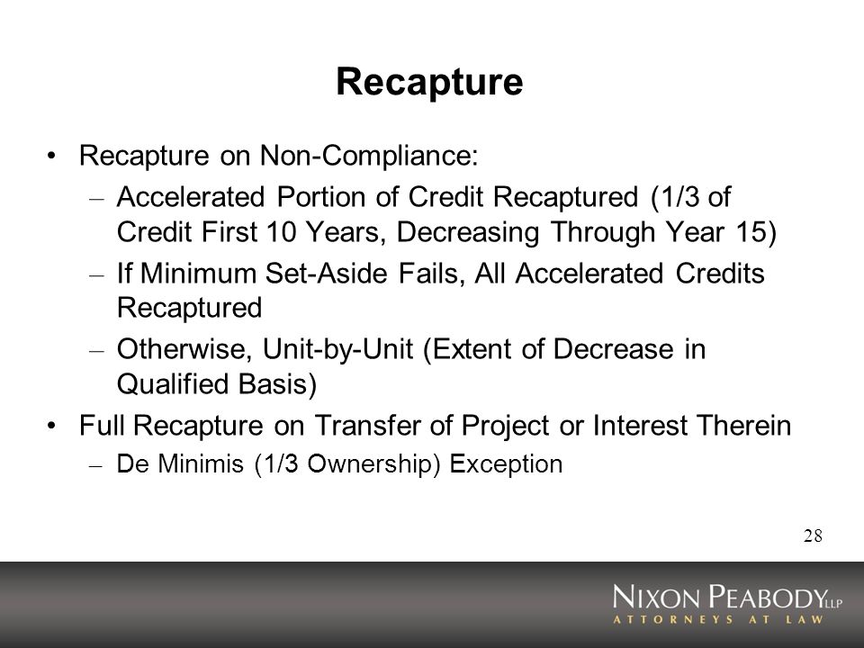 Recapture Recapture on Non-Compliance: