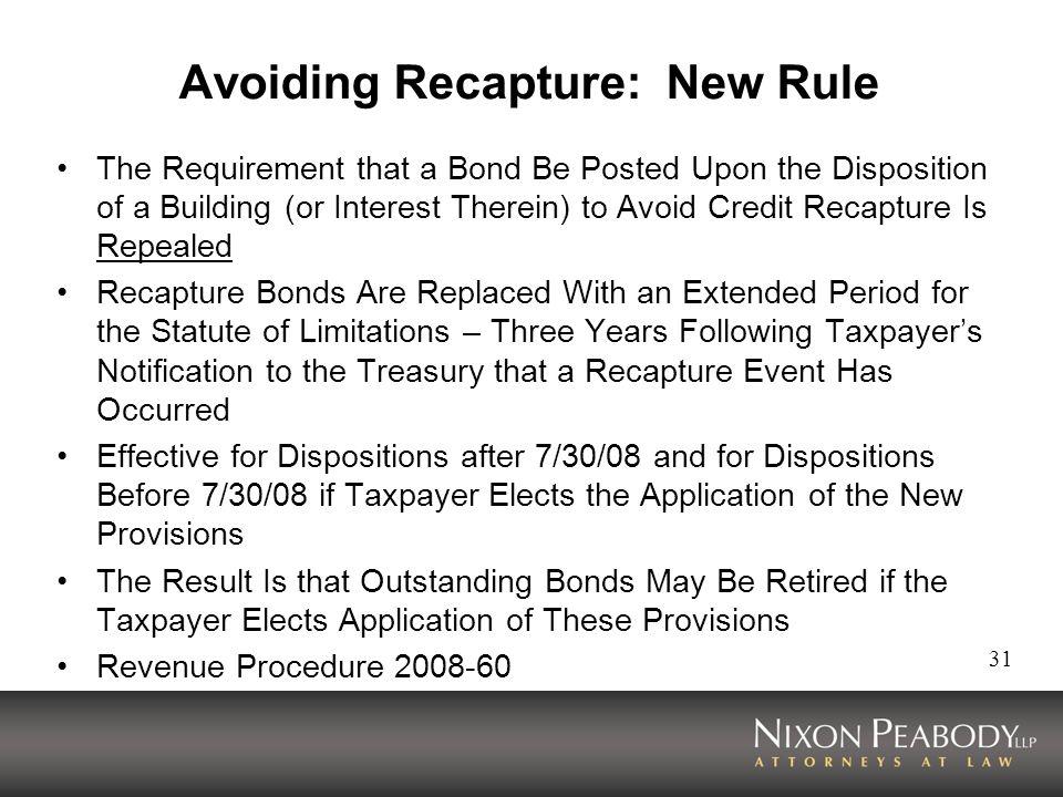 Avoiding Recapture: New Rule