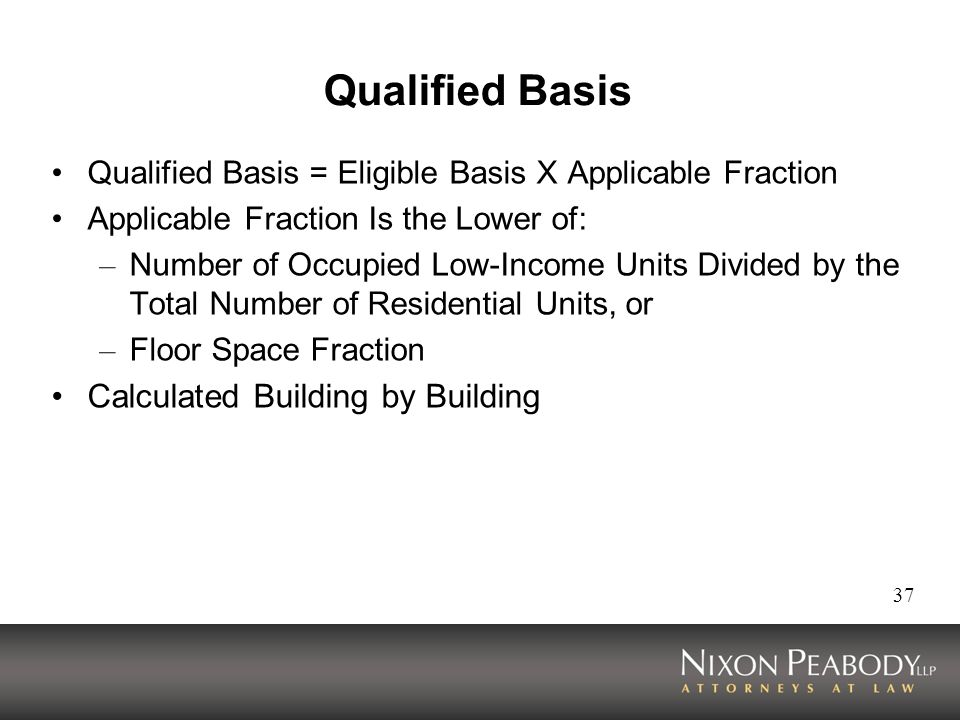 Qualified Basis Calculated Building by Building