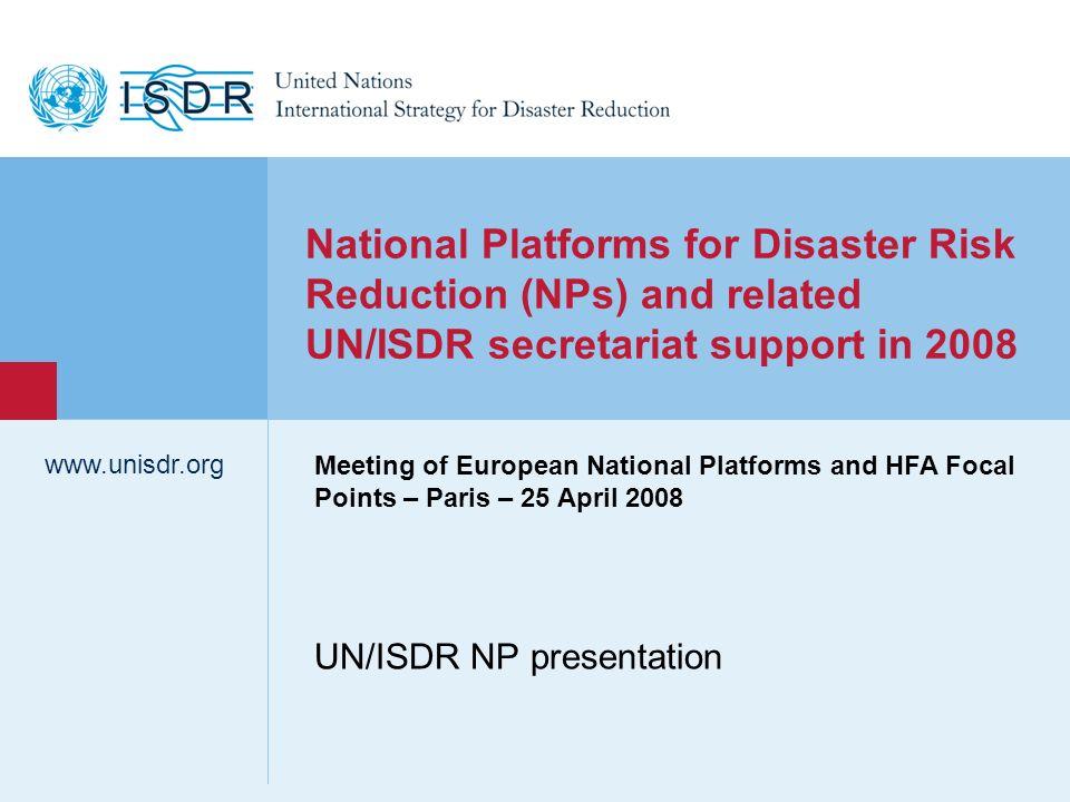 UN/ISDR NP presentation
