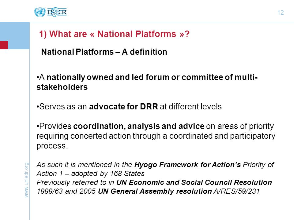 1) What are « National Platforms »