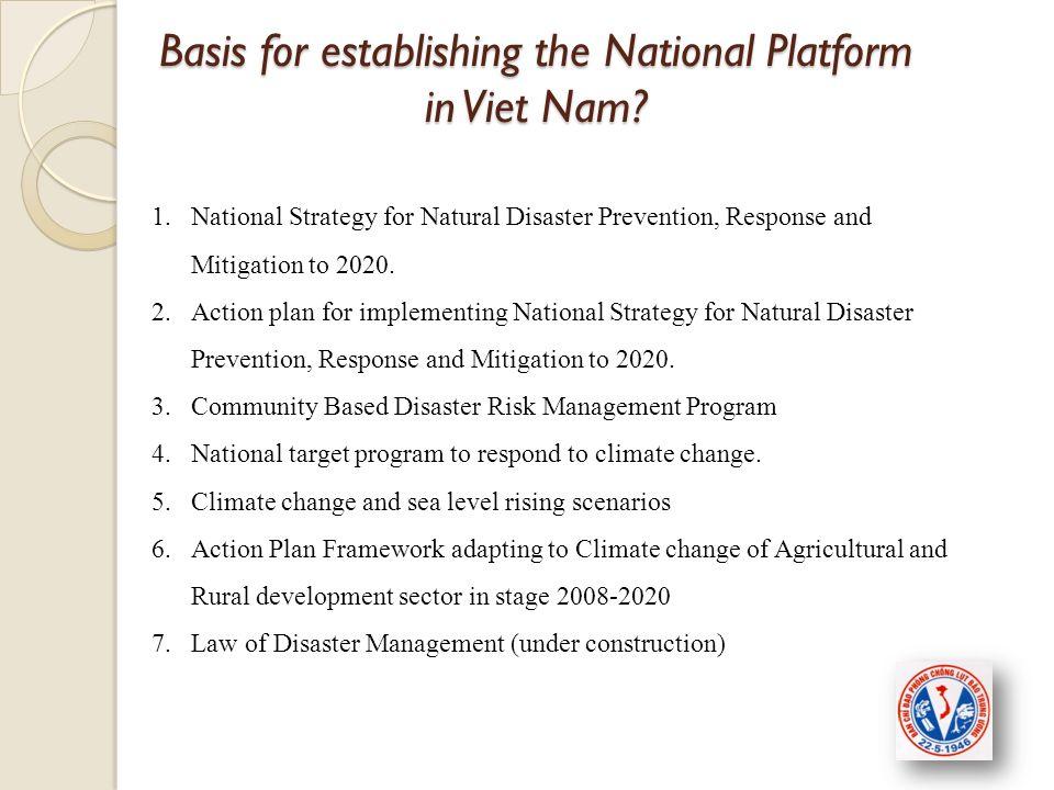 Basis for establishing the National Platform in Viet Nam