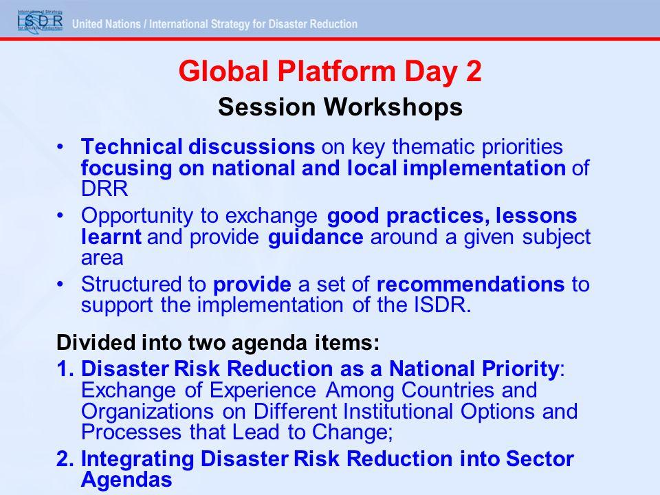 Global Platform Day 2 Session Workshops