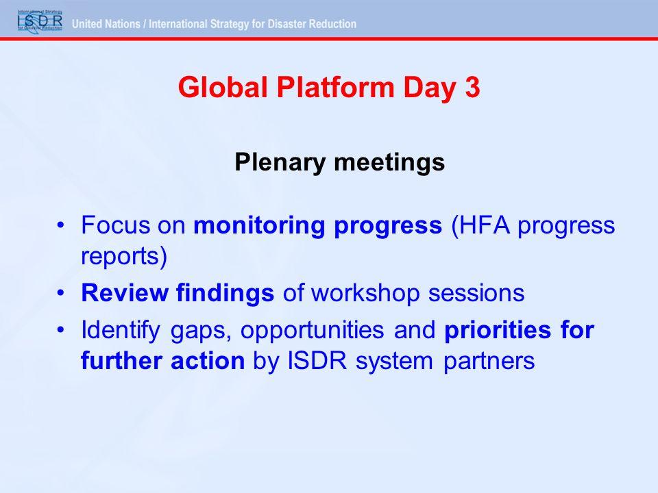 Global Platform Day 3 Plenary meetings