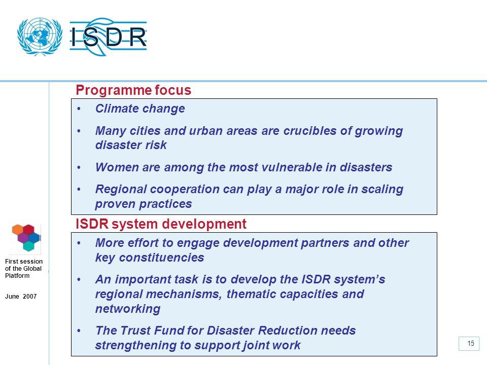 ISDR system development