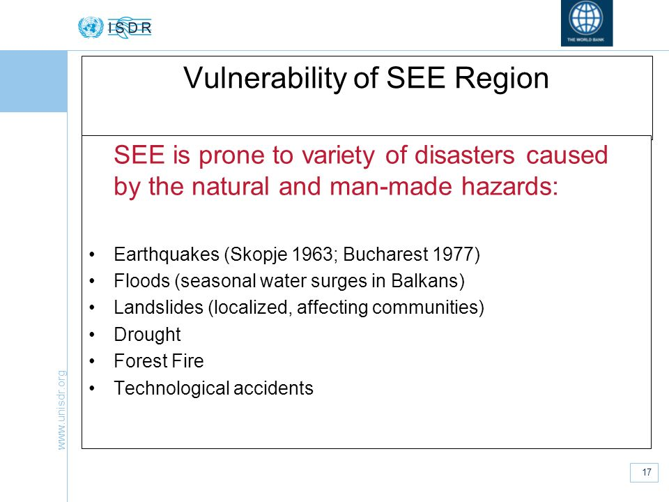 Vulnerability of SEE Region