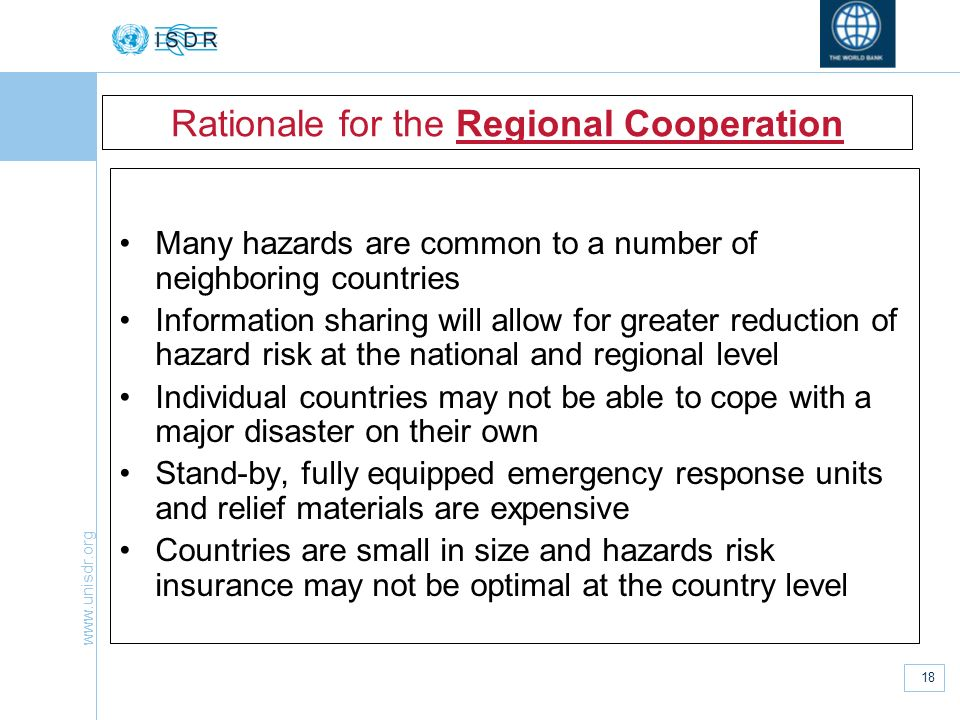Rationale for the Regional Cooperation