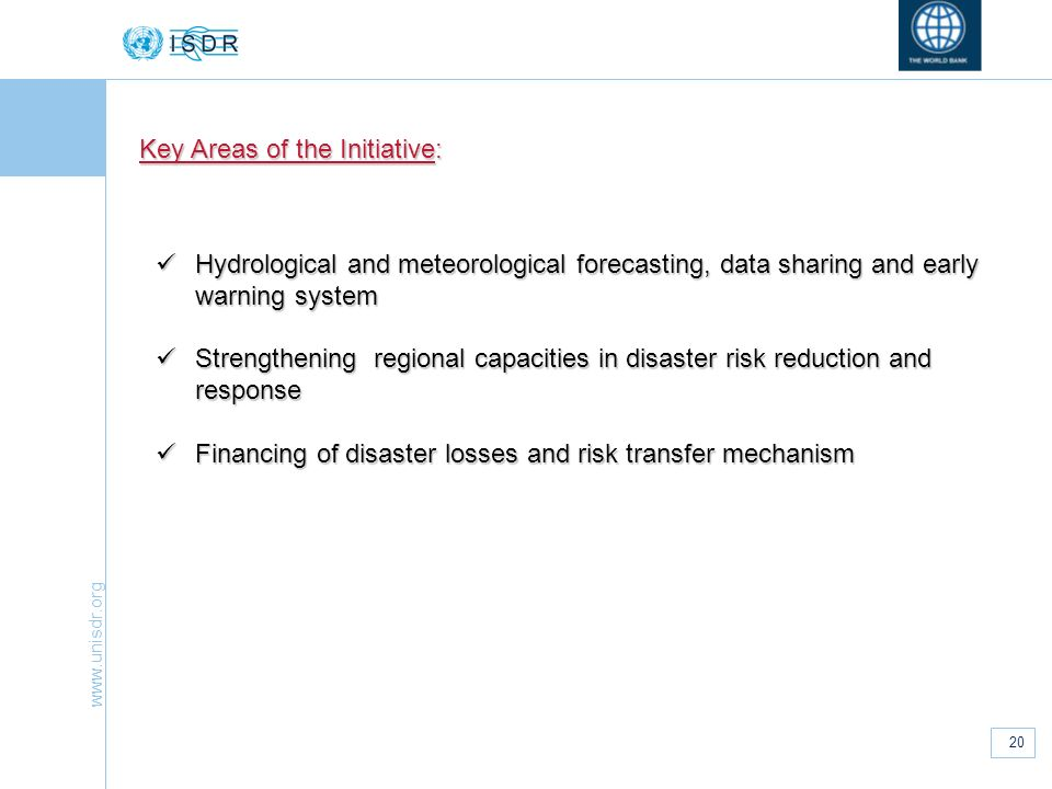Key Areas of the Initiative: