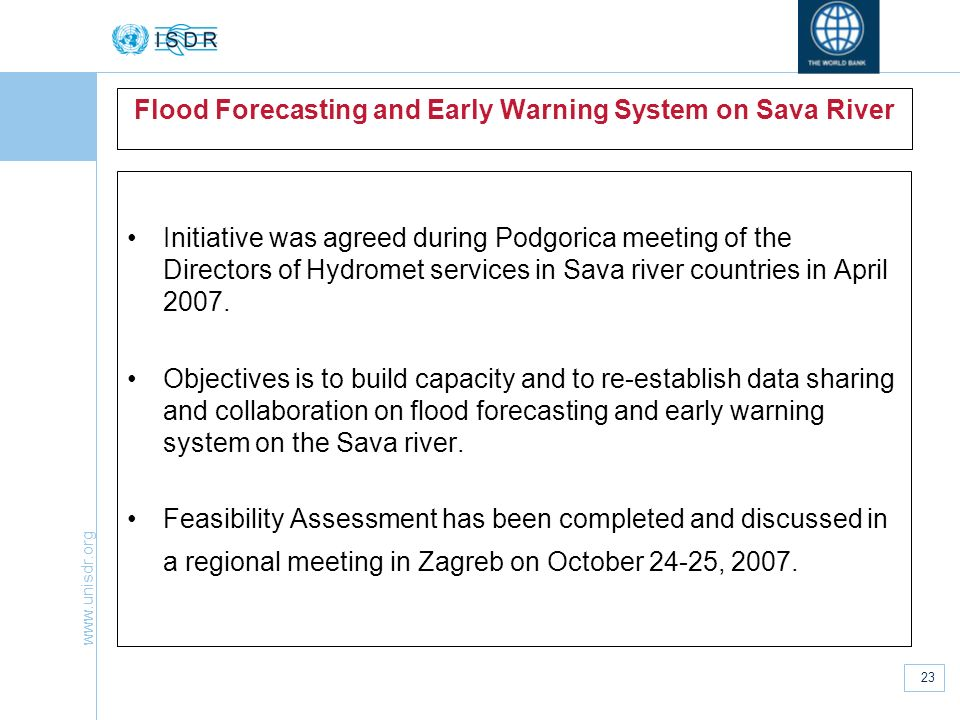 Flood Forecasting and Early Warning System on Sava River