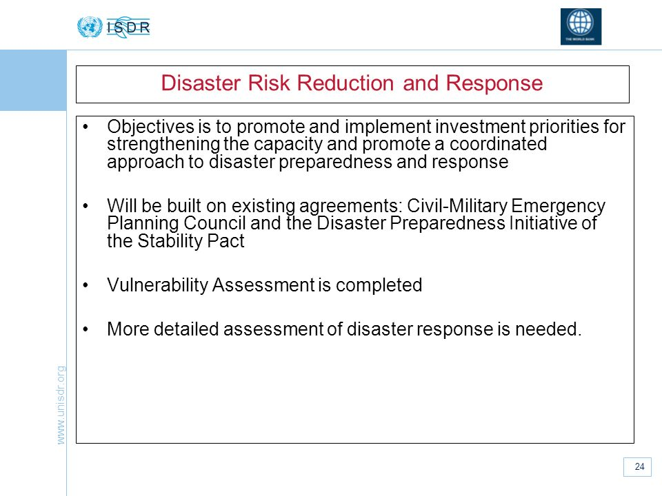 Disaster Risk Reduction and Response