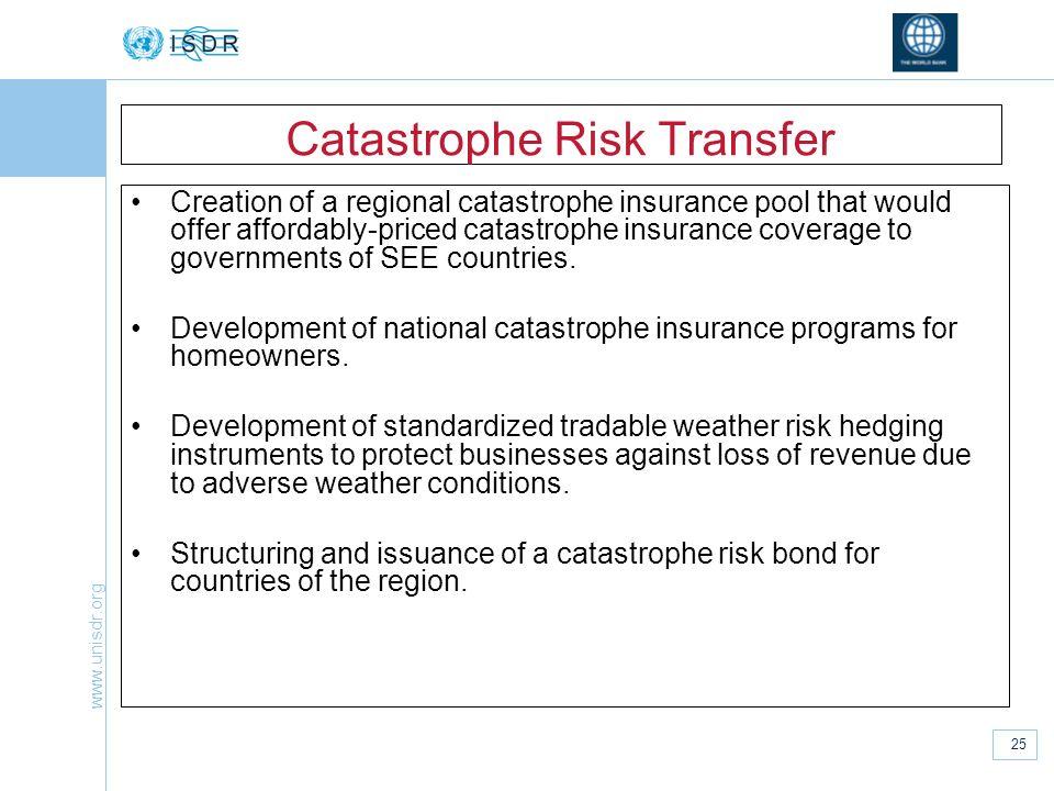 Catastrophe Risk Transfer