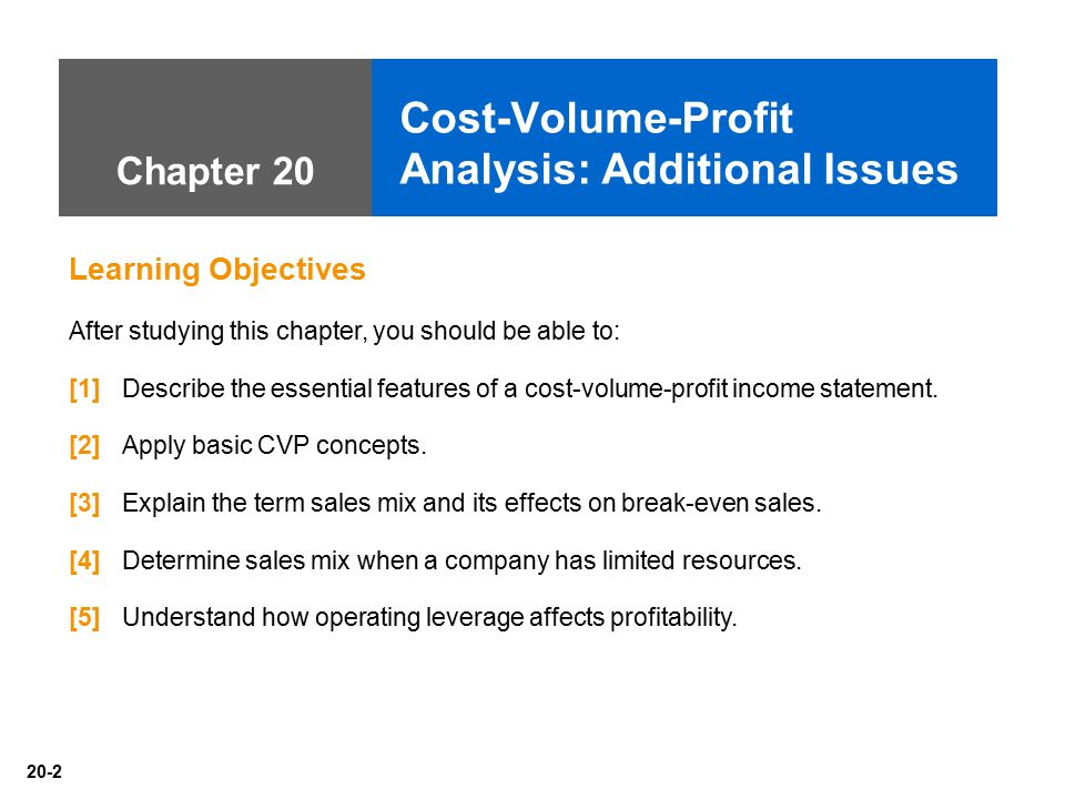 cost volume profit analysis and costing Cost-volume-profit (cvp) analysis is one of the major tools of financial analysis managers use the contribution margin to plan for the business.