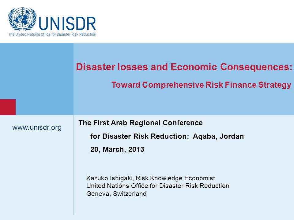 Disaster losses and Economic Consequences:
