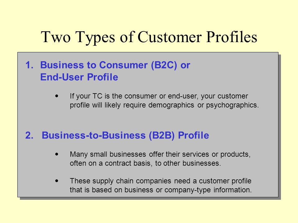 business strategy psychographic profile