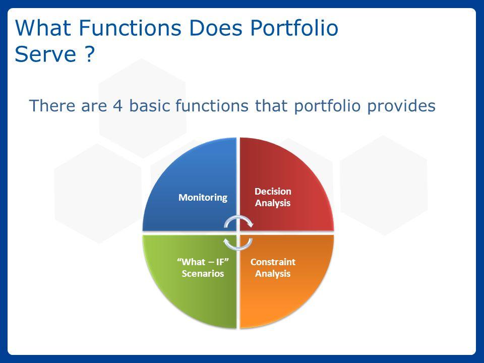 functions of portfolio management pdf