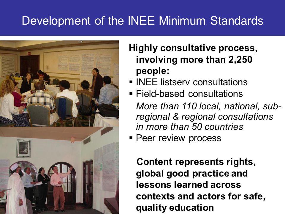 Development of the INEE Minimum Standards