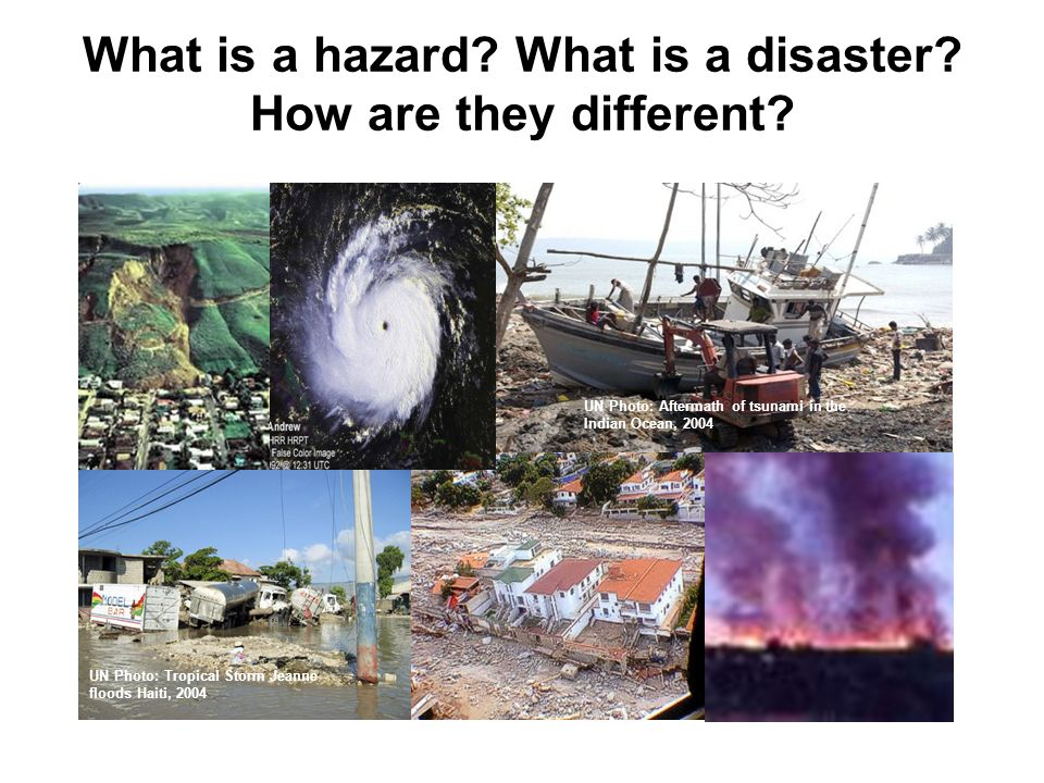 What is a hazard What is a disaster How are they different