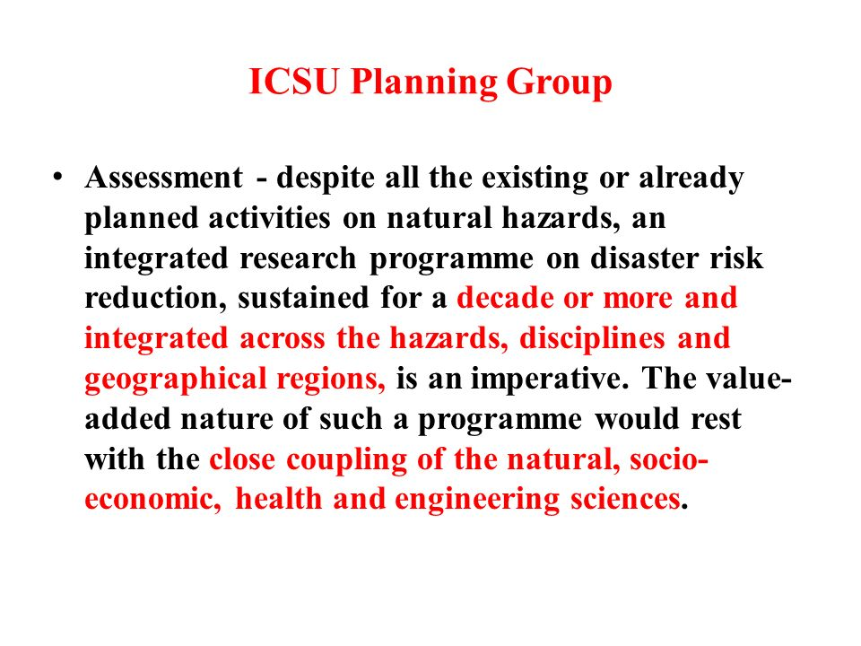 ICSU Planning Group