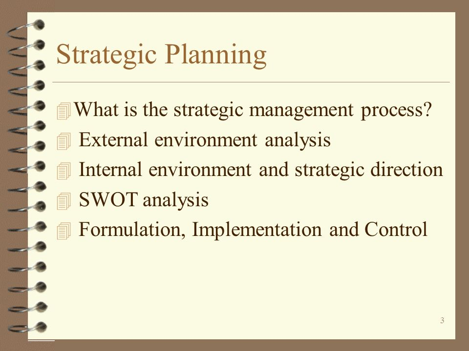 Strategic Planning What is the strategic management process