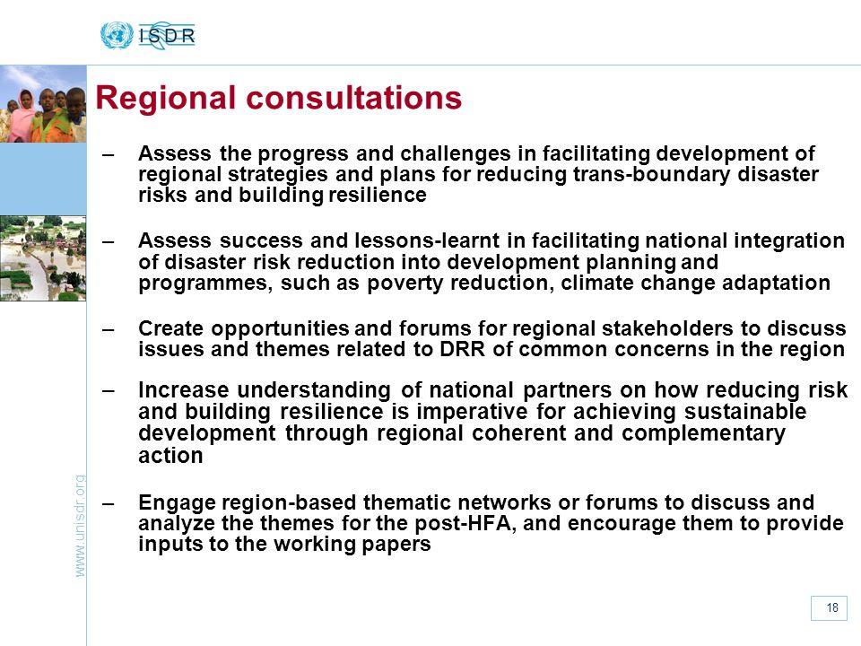 Regional consultations