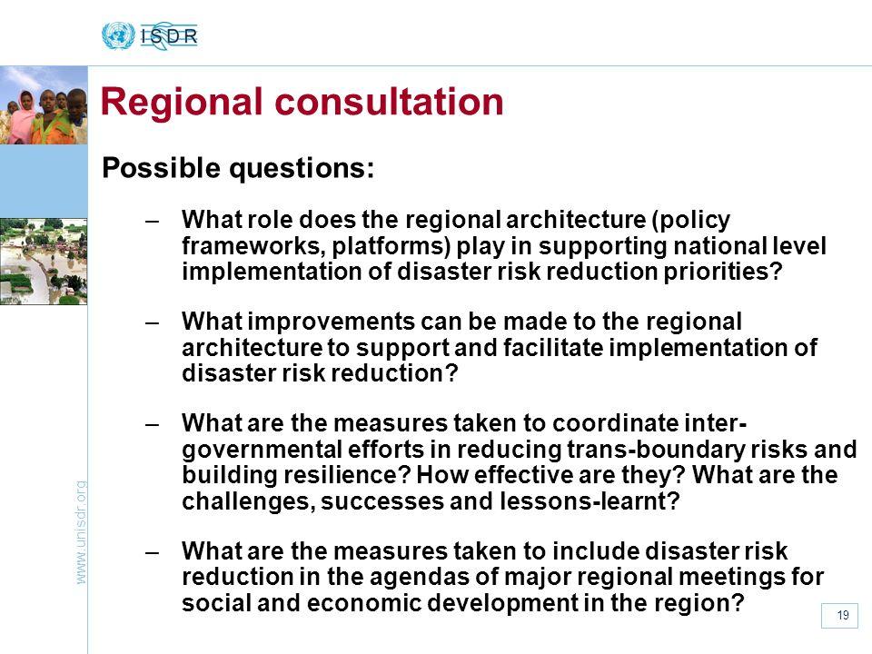 Regional consultation