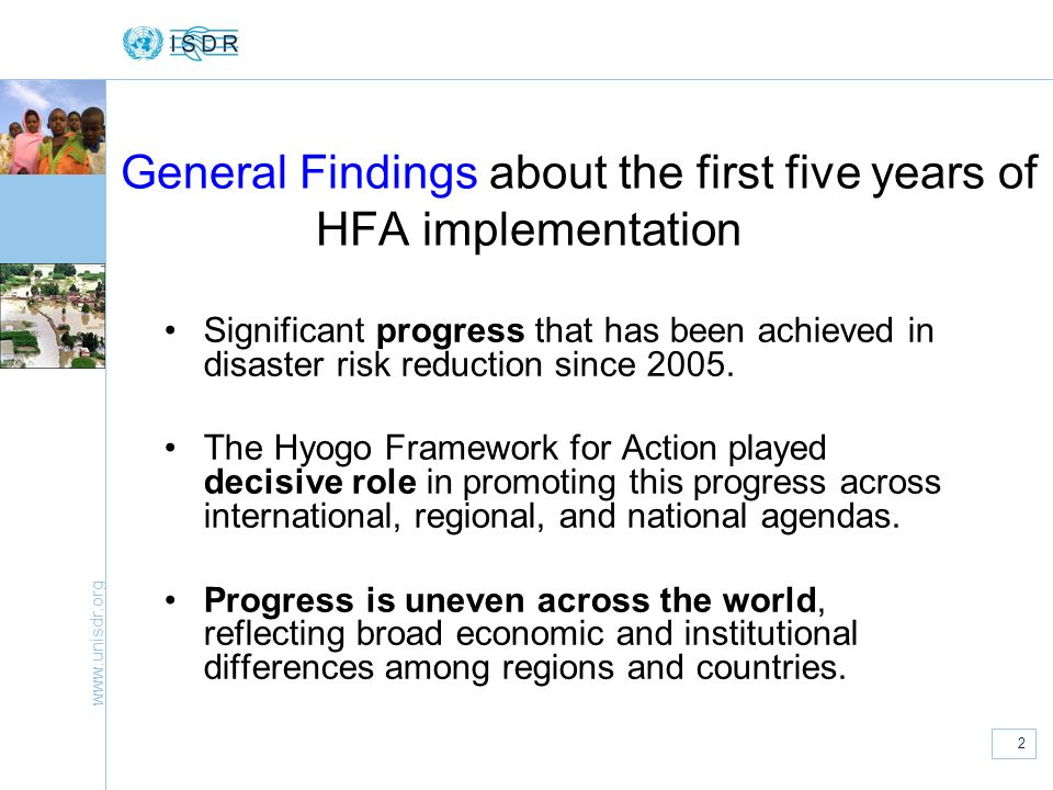 General Findings about the first five years of HFA implementation
