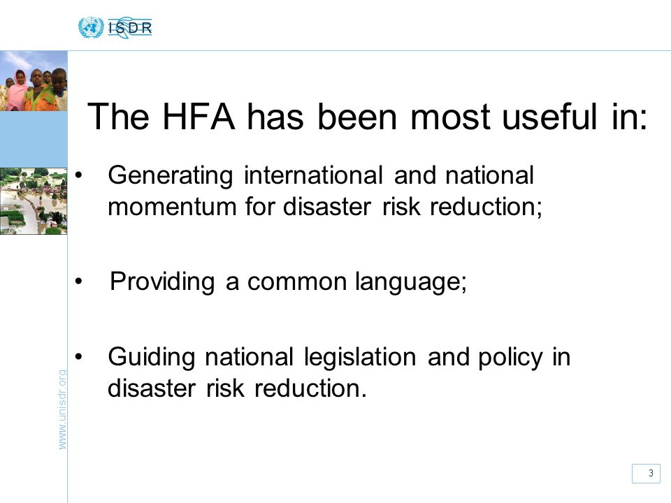 The HFA has been most useful in: