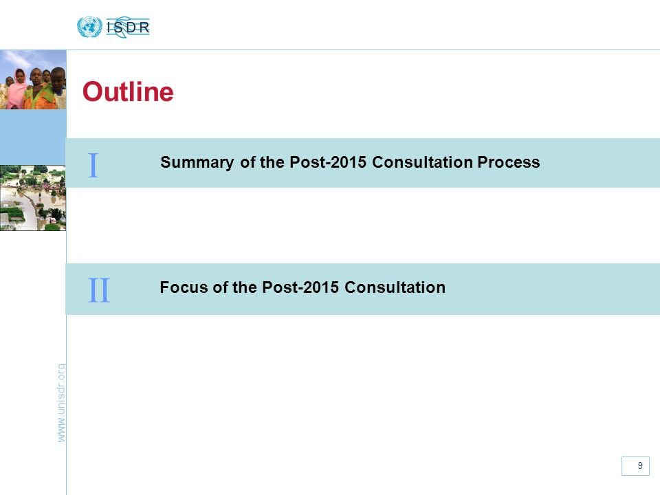 I II Outline Summary of the Post-2015 Consultation Process