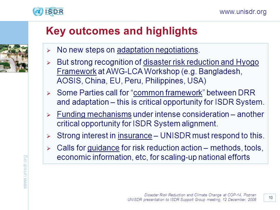 Key outcomes and highlights