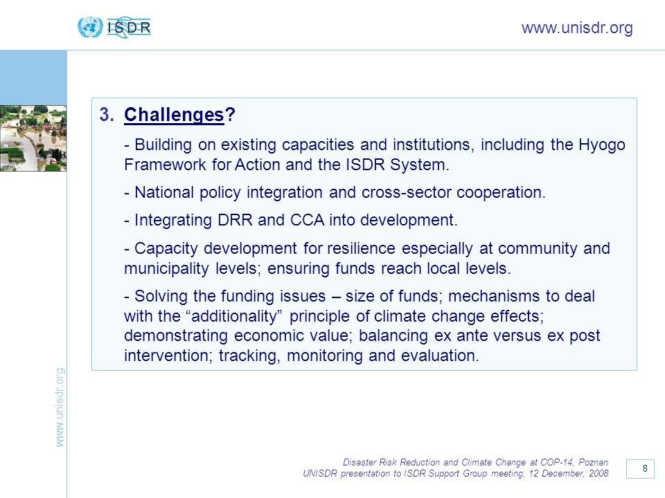Challenges www.unisdr.org