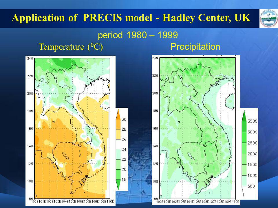 Application of PRECIS model - Hadley Center, UK