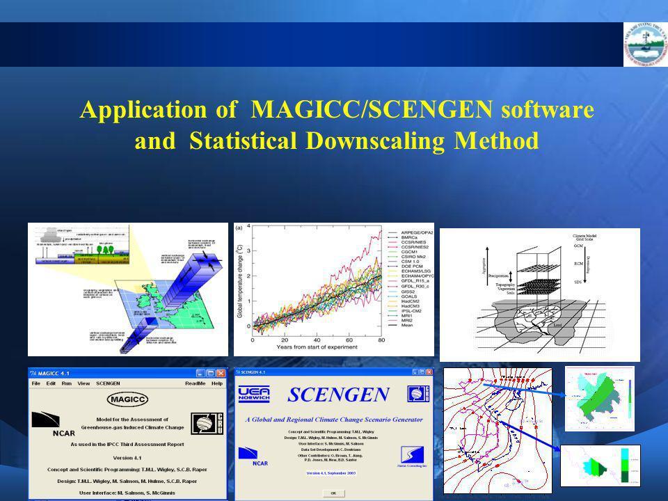 Application of MAGICC/SCENGEN software