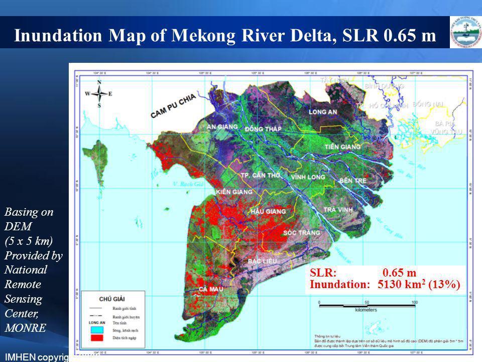 Inundation Map of Mekong River Delta, SLR 0.65 m