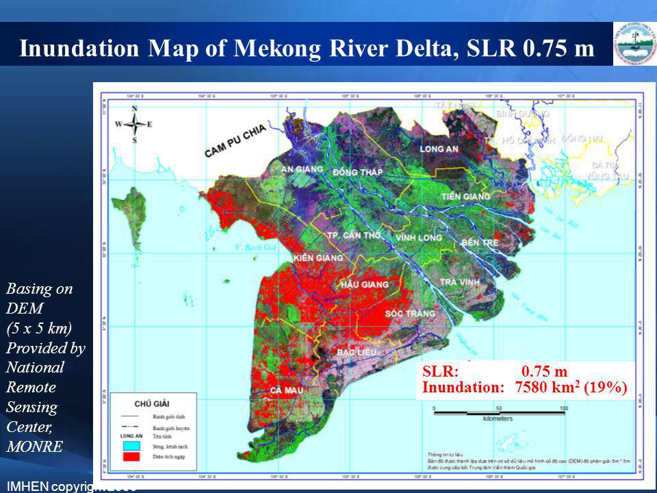 Inundation Map of Mekong River Delta, SLR 0.75 m