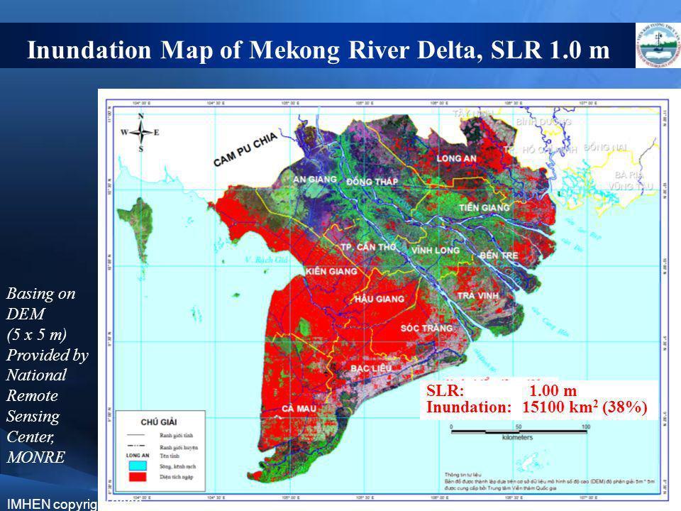 Inundation Map of Mekong River Delta, SLR 1.0 m