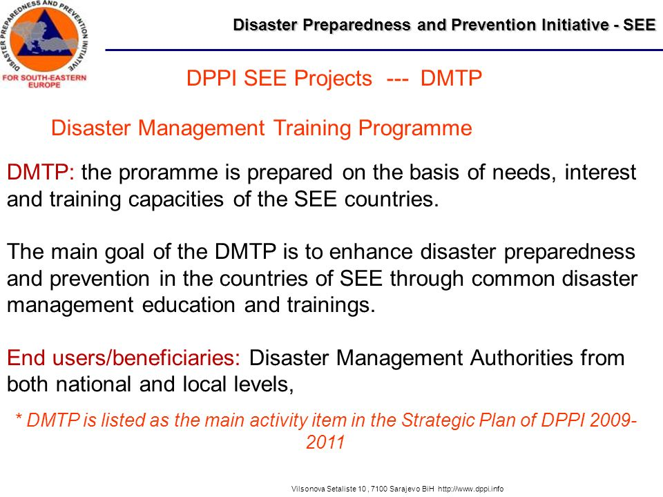 DPPI SEE Projects --- DMTP
