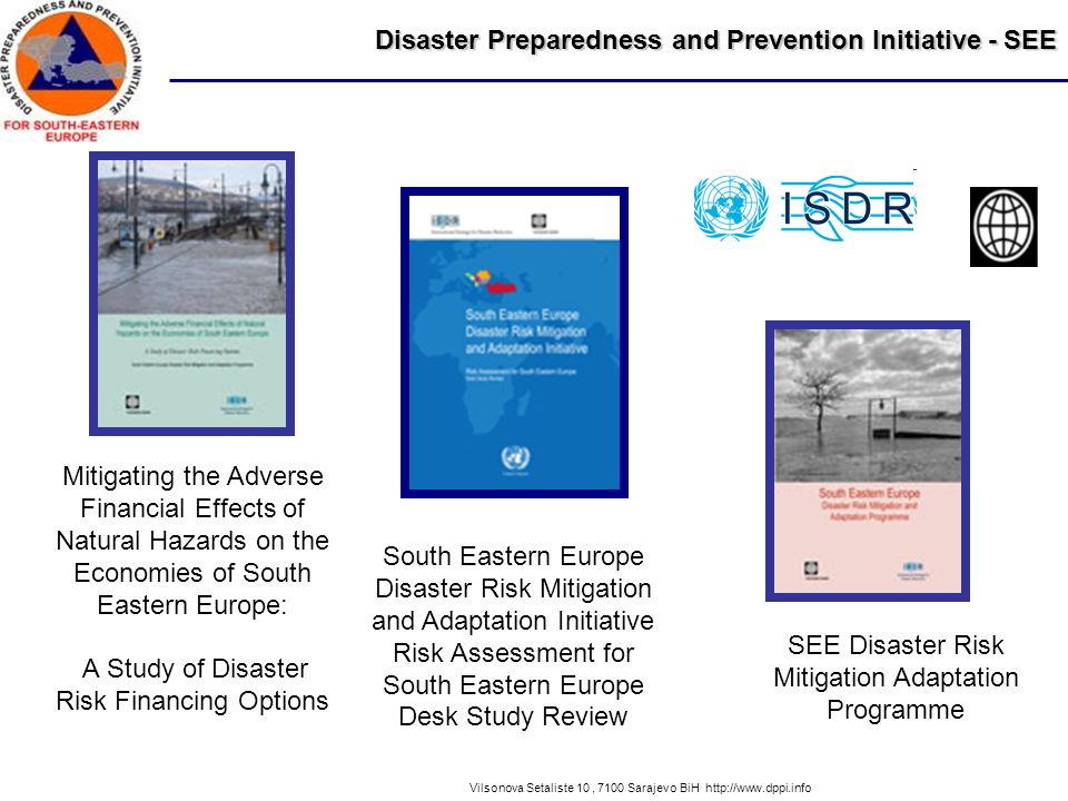 Disaster Preparedness and Prevention Initiative - SEE