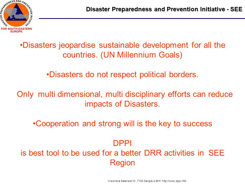 Disasters do not respect political borders.