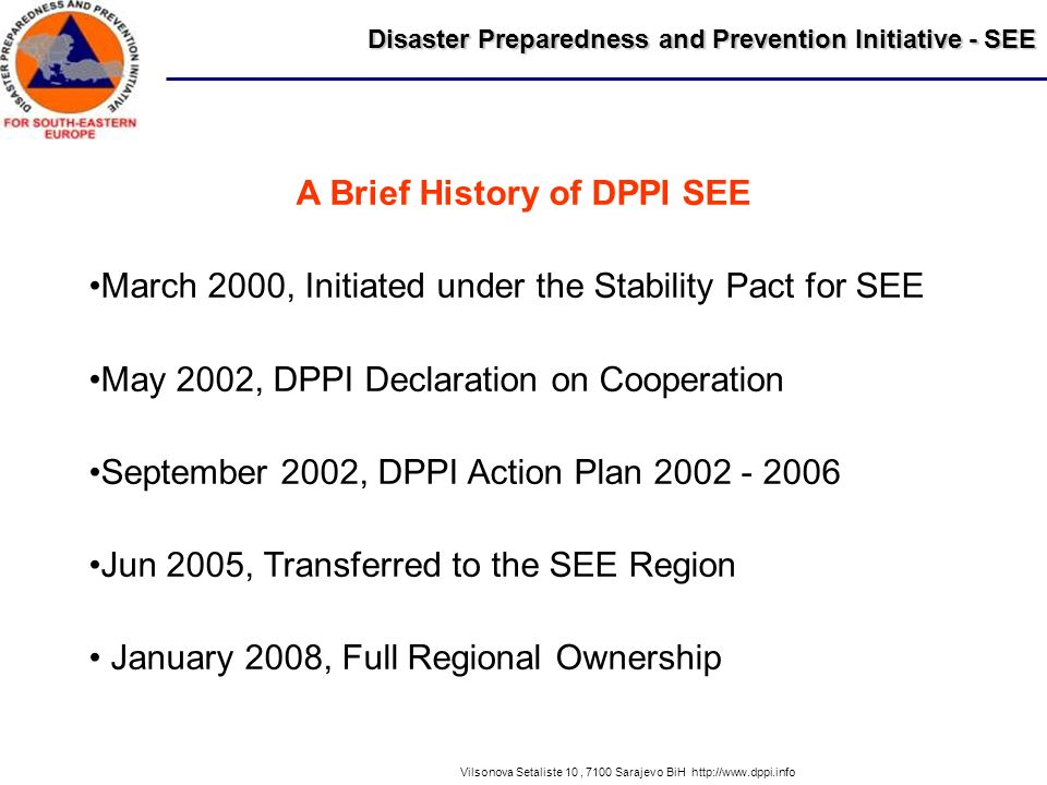 A Brief History of DPPI SEE