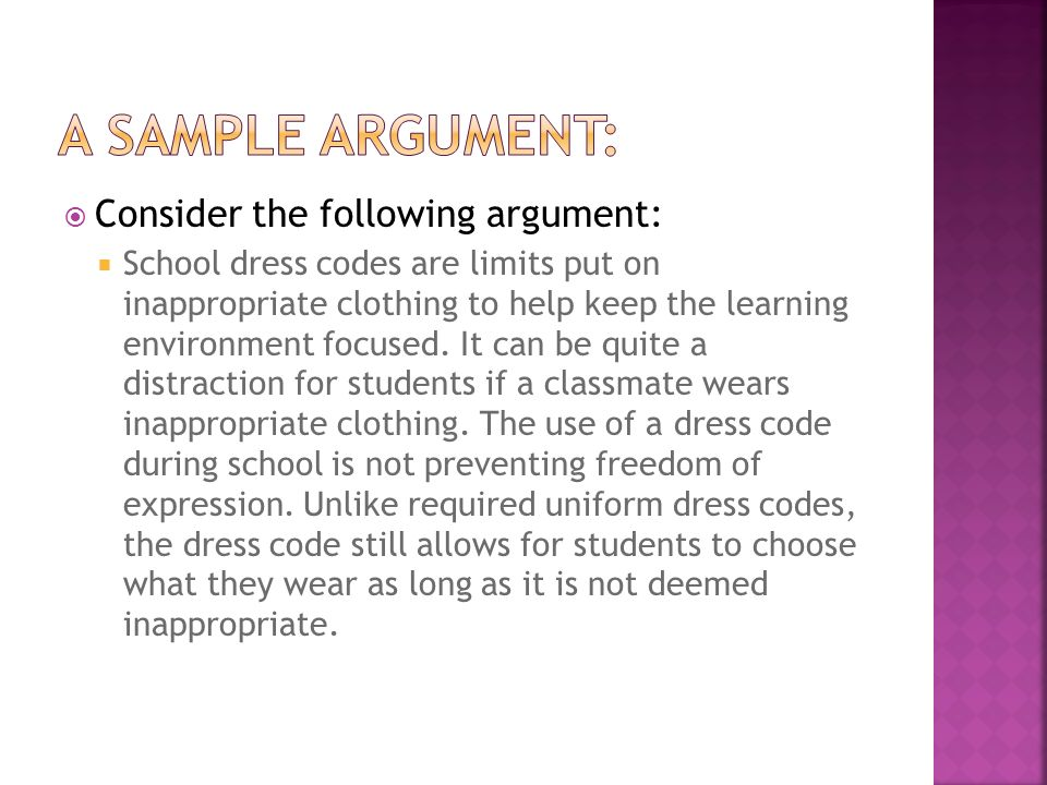 persuasive essay dress code Fifteen good persuasive essay topics about dress code for 6th graders student dress codes are hot topics online and in social media due to the inconsistencies between female and male dress codes, students of all ages are sharing pictures about outfits that have been problematic in schools around the country.